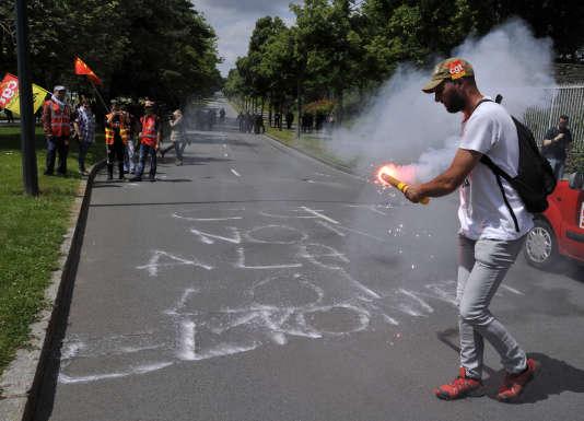 Manifestation contre la loi travail, le 28 juin à Rennes.