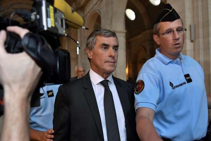Jérôme Cahuzac lors de sa comparution devant le tribunal à Paris le 5 septembre.