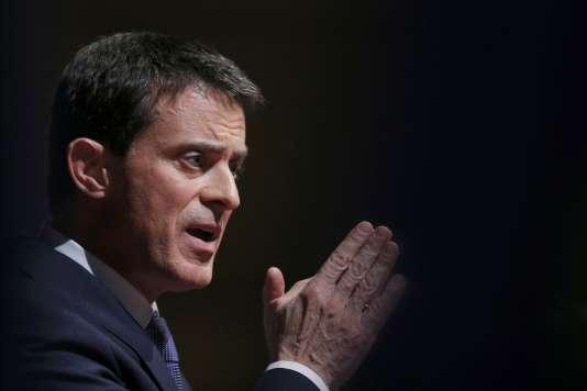 Manuel Valls, le 7 décembre à Audincourt (Doubs).