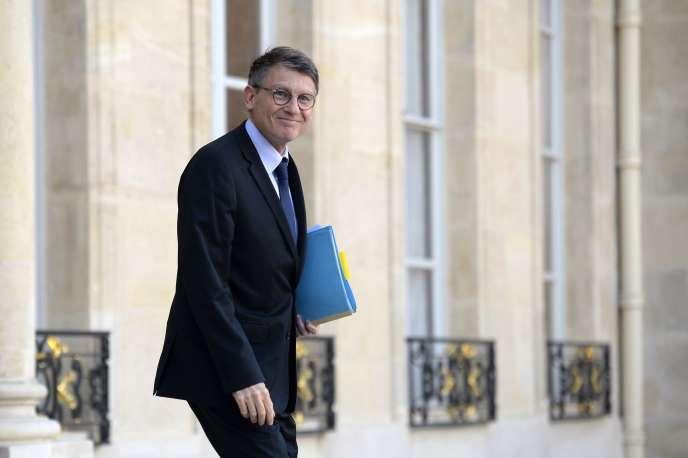 Vincent Peillon, alors ministre de l'éducation nationale, à l'Elysée, le 7 décembre 2013.
