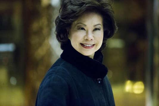 L'ancienne secrétaire au travail de la seconde administration Bush,Elaine Chao à la Trump Tower le 21 novembre.