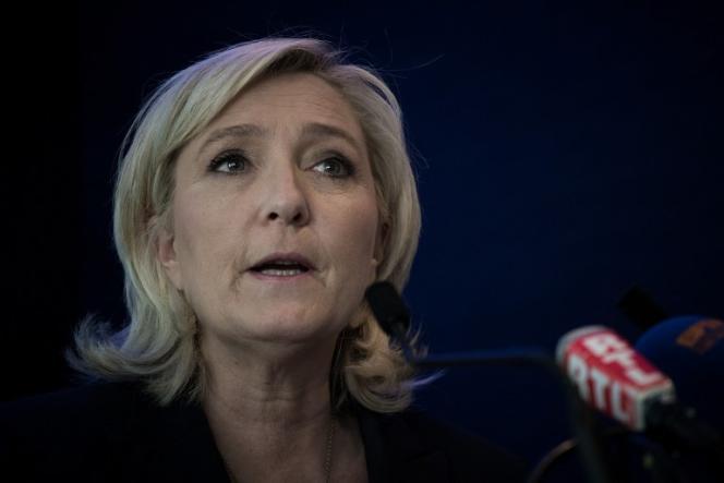 Marine Le Pen lors du