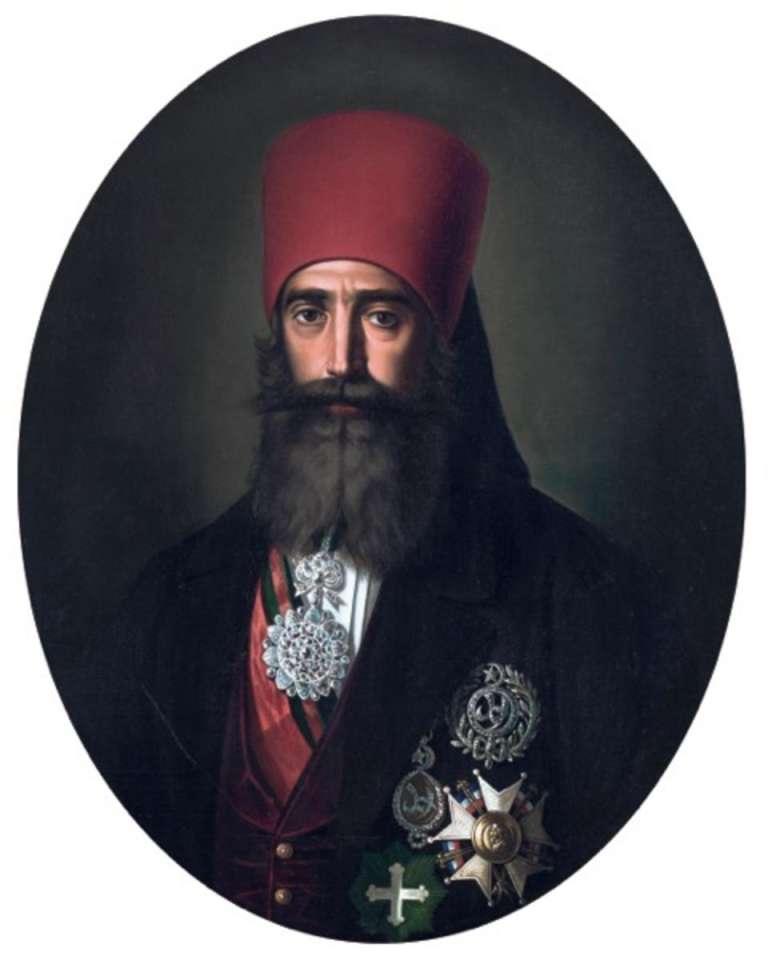 Portrait d'Ahmad Bey par Charles Gleyre.