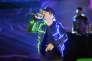 Le chanteur Ken Samaras alias Nekfeu sur la scène de la 31e édition des Victoires de la musique au Zenith de Paris le 12 février.