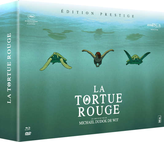 Coffret « La tortue Rouge », Edition Prestige Blu-Ray + DVD, CD de la bande originale du film et artbook.