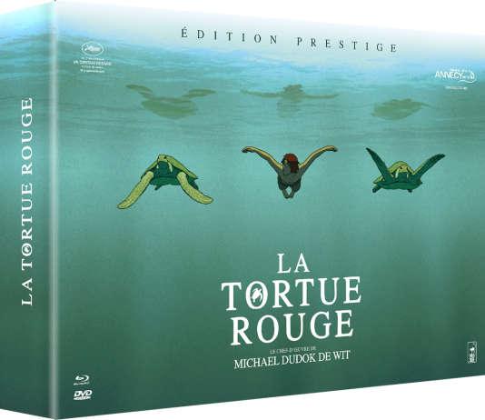 Coffret « La tortue Rouge», Edition Prestige Blu-Ray + DVD, CD de la bande originale du film et artbook.