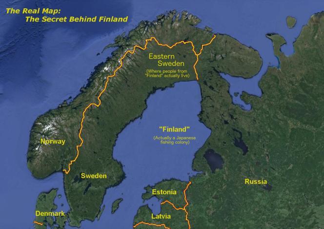 La véritable carte de la« Finlande». Reddit.com