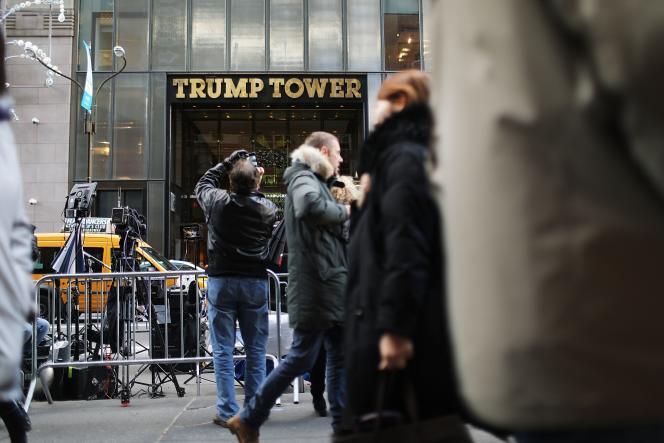 Devant la Trump Tower, le 9 décembre.