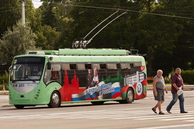 A Tiraspol, la capitale de la République autoproclamée de Transnistrie, en juin 2014