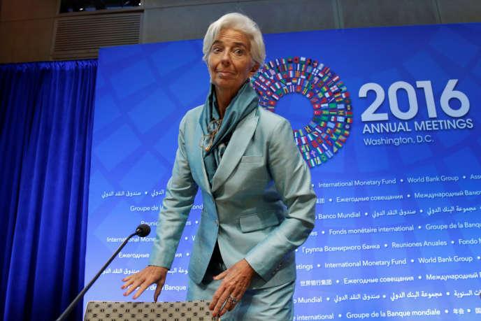 La présidente du FMI, Christine Lagarde, à Washington, le 6octobre.