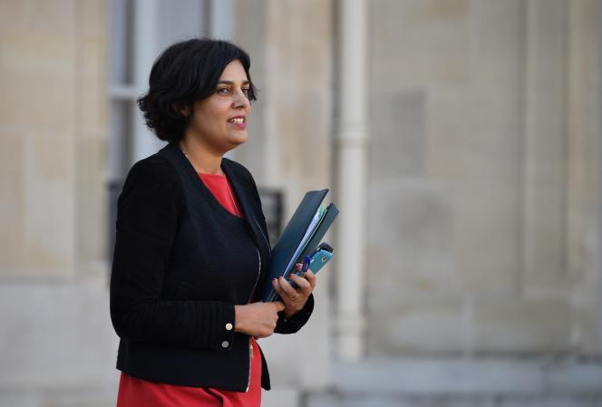 Myriam El Khomri sort de l'Elysée le 7 décembre.
