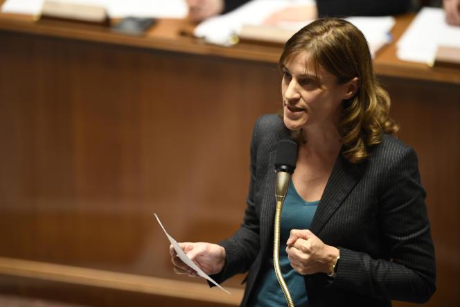 Juliette Meadel le 9 novembre à l'Assemblée nationale.