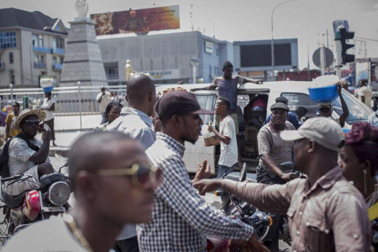 Au centre-ville de Kinshasa.