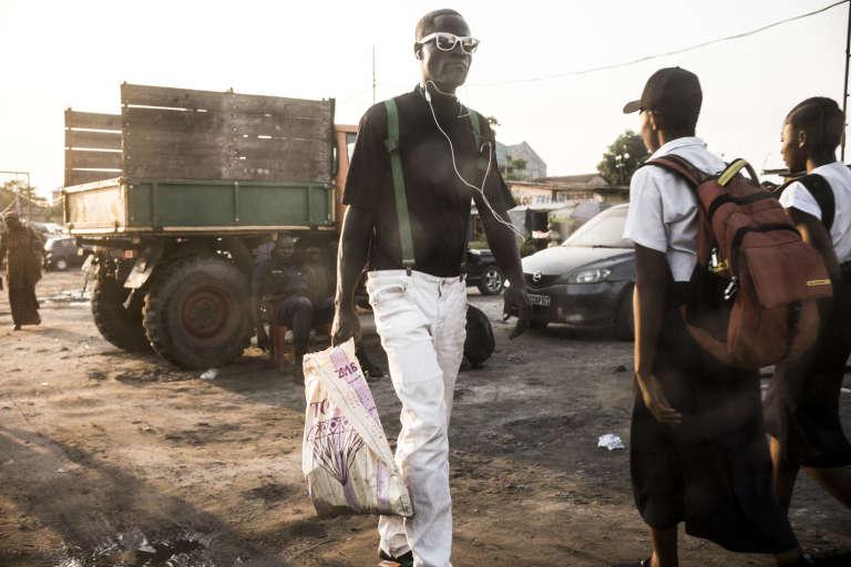 Dans un quartier populaire de la « Cité» de Kinshasa
