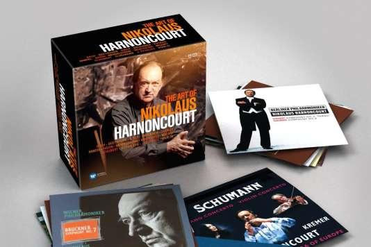 Coffret«The Art of Nikolaus Harnoncourt – Bach. Beethoven. Biber. Bruckner. Dvorak. Haendel. Haydn. Mendelssohn. Monteverdi. Mozart. Schubert. Schumann. Johann Strauss.»