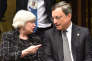 Janet L. Yellen et Mario Draghi le président de la Banque centrale européenne, le 20mai.