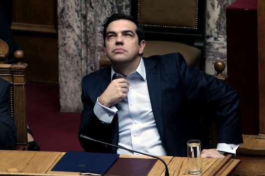 Le premier ministre grec Alexis Tsipras, au Parlement, le 10 décembre.