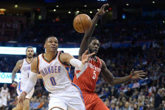 Russell Westbrook lors du match opposant son équipeOklahoma City Thunder aux Houston Rockets, le 9 décembre.