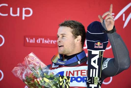 Alexis Pinturault après son succès sur le slalom géant, samedi 10 décembre.