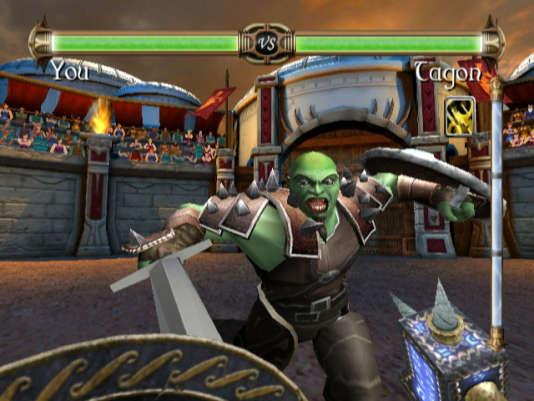 «Rage of the Gladiator» était l'un des seuls titres à exploiter le Wii Motion Plus.