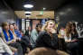 Réunion du comité local d'En marche ! dans un café-restaurant du Mans, le 6 décembre.