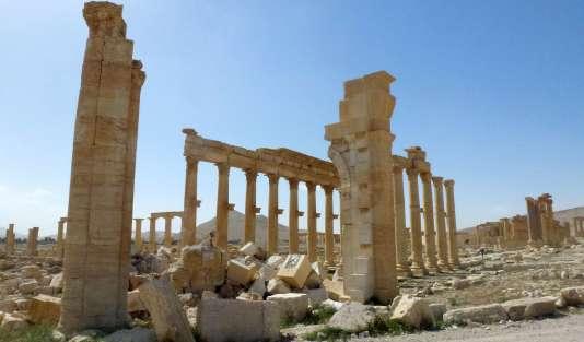Site archéologique de Palmyre.