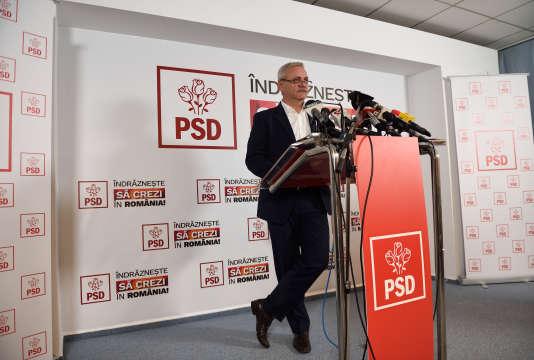 Liviu Dragnea a revendiqué la victoire au nom de son parti, le PSD.