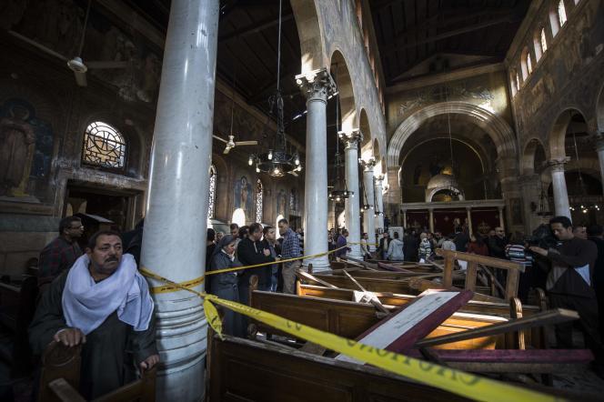 L'intérieur de l'église Saint-Pierre-et-Saint-Paul duCaire, dimanche 11décembre.