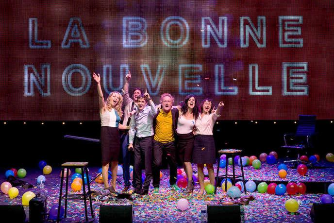 «La Bonne Nouvelle», de François Bégaudeau, mise en scène par Benoît Lambert. Avec Christophe Brault, Anne Cuisenier, Elisabeth Hölzle…