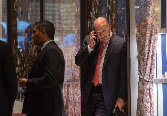 Gary Cohn à la Trump Tower, à New York, le 29 novembre.