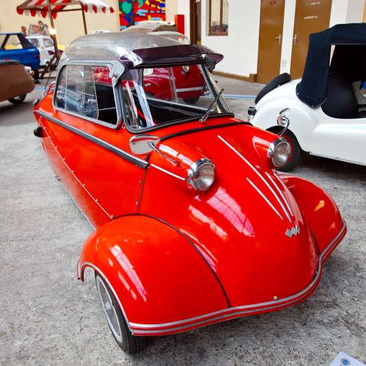 Un Messerschmitt KR de 1958 exposé au salon Rétro auto Évreux 2013