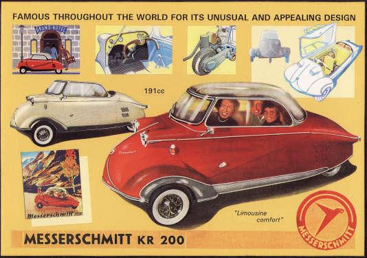 Une publicité anglaise de 1955 pour le KR. On aurait pu croire que vendre sous le nom Messerschmitt eut été impossible au Royaume-Uni.