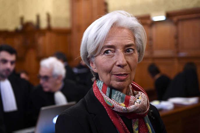 La patronne du FMI,Christine Lagarde, au Palais de justice de Paris, le 12 décembre.
