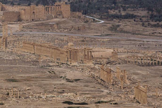 Les ruines de la cité antique de Palmyre (Syrie), le 14 avril.