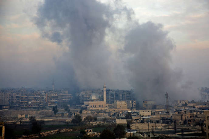 Alep en Syrie, le 12 décembre.