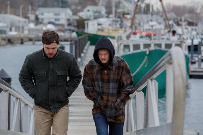 Casey Affleck et Lucas Hedjes dans Manchester By The Sea.