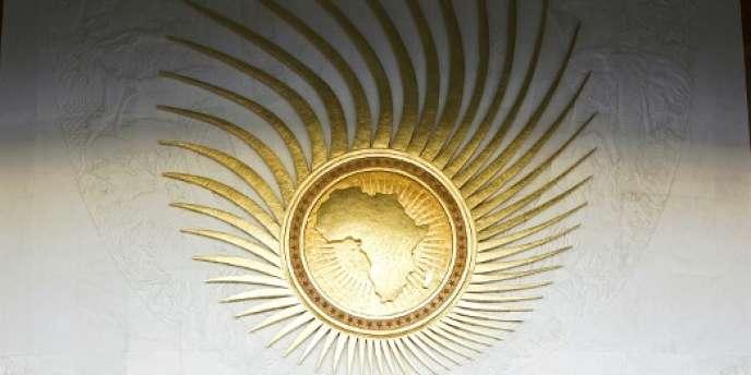 Le symbole de l'Union africaine au siège de l'organisation panafricaine, à Addis-Abeba.