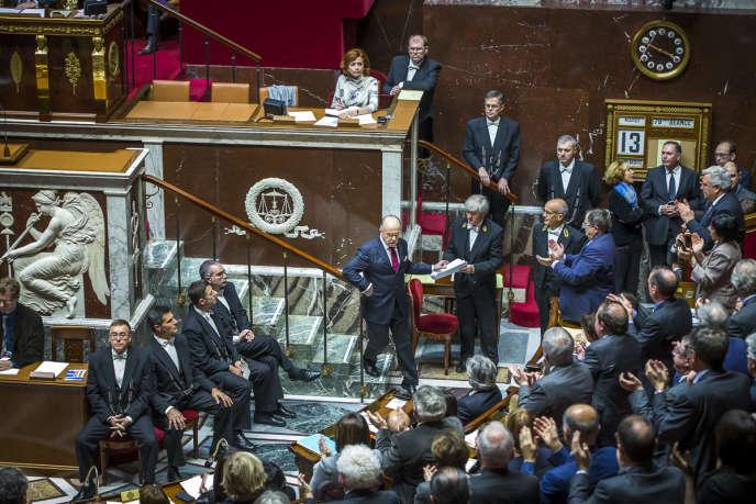 Les députés réunis à l'Assemblée nationale à Paris, mardi 13 décembre 2016 - 2016©Jean-Claude Coutausse / french-politics pour Le Monde
