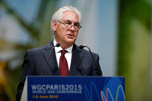 Rex Tillerson, lors du Congrès mondial du gaz, à Paris, le 2 juin 2015.