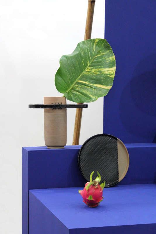 Bambou, céramique, laque et tissu teint à l'indigo ont été le fil conducteur de Transfer(s), une collection développée par une équipe de designers français et thaïlandais.