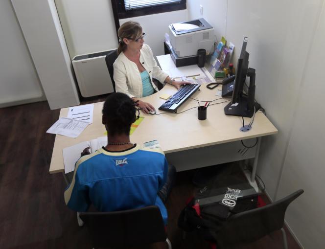 Une agence Pôle emploi, le 10 septembre 2012 à Pontault-Combault.