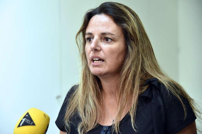Marine Martin, présidente de l'association qui regroupe des familles de victimes de l'anti-épileptique Dépakine, le 24 août 2016.