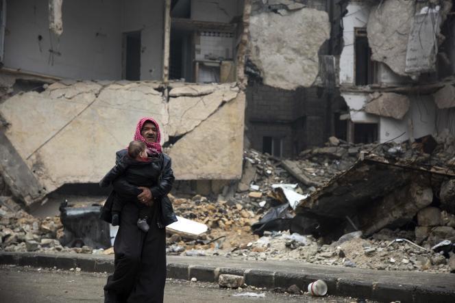 «Alep avait fait sa révolution. Il fallait la punir. Comme toutes les villes de Syrie qui se sont soulevées il y a cinq ans contre la tyrannie d'Assad, Alep devait payer» (Photo: à Alep).