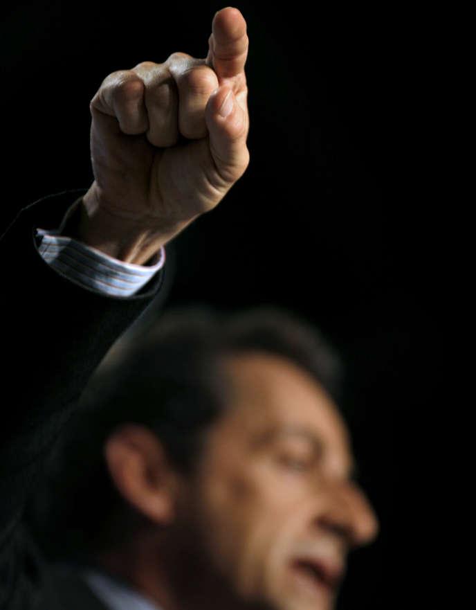 Nicolas Sarkozy, à Clermont-Ferrand, en2007.