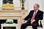 Russian President Vladimir Putin meets with Raul Khadzhimba, the leader of Georgia's breakaway region of Abkhazia, at the Kremlin in Moscow, Russia December 1, 2016. REUTERS/Natalia Kolesnikova/Pool - RTSU6U5