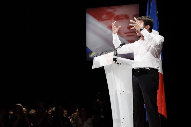 Manuel Valls, alors premier ministre, à Colomiers (Haute-Garonne), le 29 août.