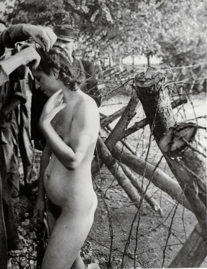 En 1943, à Pisciatello, en Corse, des patriotes corses coupent les cheveux d'une femme pour la punir d'avoir eu des relations sexuelles avec l'ennemi.