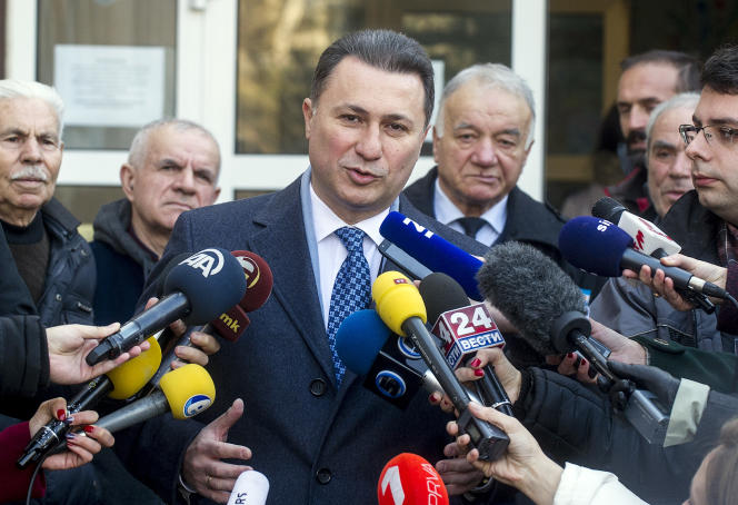 L'ancien premier ministre macédonien Nikola Gruevski, le 11 décembre 2016 à Skopje.