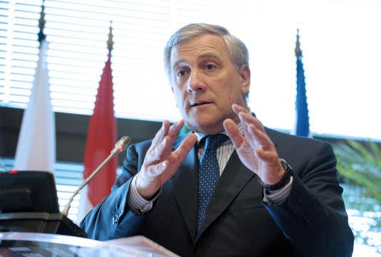 Antonio Tajani, en 2013 à Paris.