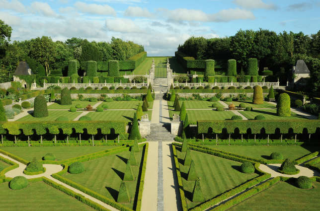 Au château de Brécy (Calvados),exemple remarquable du« génie français» en matière de jardin.